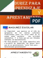MADUREZA EL APRENDIZAJE Y EL APRESTAMIENTO.pptx