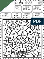MuNDo ABC Tablas de Multiplicar Para Colorear