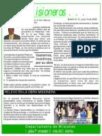 Boletin 31 - REFLEXION DE MISIONERO MARCOS PABÓN - MISIONERO EN COSTA RICA - RELEVO EN EL SALVADOR - A JUNIO 19 DE 2008