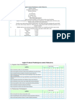 Angket Evaluasi Pembelajaran Untuk Mahasiswa