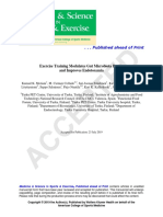 Exercise Training Modulates Microbiota