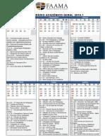 Calendário Acadêmico Geral 2019