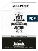 ANTHE Sample Paper and Answer Key 2019 for Class 8 Studying