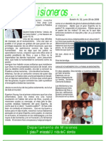 Boletin 32 - JUNIO 29 08 - DEVOCIONAL MISIONERO ARGOTE - INFORME DE VALLEDUPAR