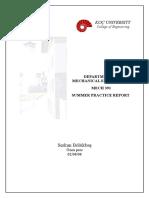 ME Summer Practice Report 222