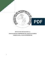 Estatutos Asociación de Intérpretes de Lengua de Señas Venezolana ASOIVE