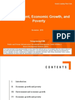 Environment, Economic Growth and Poverty