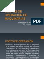 COSTOS DE OPERACIÓN DE MAQUINARIAS.ppt