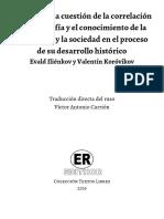 Tesis sobre la cuestión de la correlación de la filosofía y el conocimiento de la naturaleza y la sociedad en el proceso de su desarrollo histórico - Evald Iliénkov