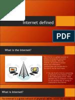 Internet Defined