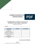 EXAMEN DIAGNOSTICO DE TERCERO DE SECUNDARIA