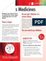 Diabetes Medicines-U.S. Department of Health and Human Services, Food and Drug Administration, Office of Women's Health