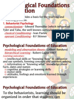 Psychological Foundations