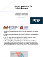 Redesigning Assessment for Holistic Learning