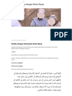 Hukum Wudhu Dengan Botol Spray _ Konsultasi Agama Dan Tanya Jawab Pendidikan Islam