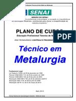 Plano de Curso - Técnico Em Metalurgia - Atualizado