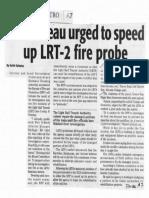 Daily Tribune, Oct. 10, 2019, Fire bureau urged to speed up LRT-2 fire probe.pdf