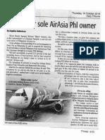 Daily Tribune, Oct. 10, 2019, Legislator sole AirAsia Phl owner.pdf