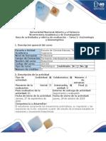 Guía de Actividades y Rúbrica Evaluación - Tarea 2 - Enzimología y Bioenergética