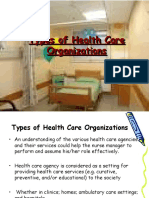 Lecture 5 Health Care Organizations