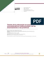 Teorías de La Educación en Proyectos