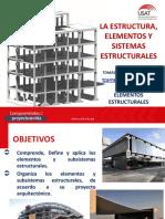 CLASE 1 LA ESTRUCTURA, ELEMENTOS Y SISTEMAS ESTRUCTURALES.pdf