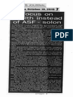 Peoples Journal, Oct. 10, 2019, Focus on health instead of ASF - solon.pdf