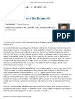 """Reserve Bank of Australia Deputy Governor's speech, """"Climate Change and the Economy"""", 19 March 2019"""
