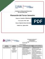 Planeación de Lenguaje y Alfabetización 2019 LEPE