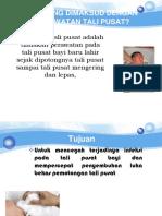 Perawatan Tali Pusat Presentase Bahasa Indonseia