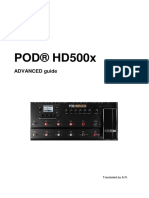 Manuale POD HD500X