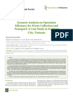 Scenario Analysis on Operation Efficiency for Waste Collection and Transport. a Case Study in Da Nang City, Vietnam.