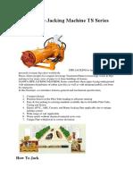 Pipe Jacking Machine TS Serie1
