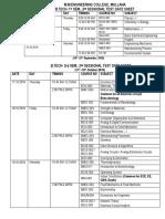 B.tech.3,5,7 Date Sheet