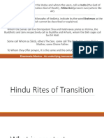 Death Rites of Transition for Hindus