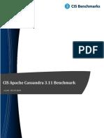 CIS Apache Cassandra 3.11 Benchmark v1.0.0