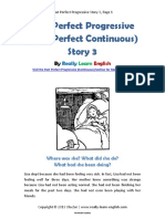 Past Perfect Progressive Story 3