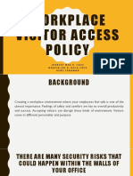 workplace visitor access policy