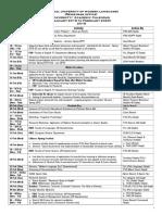 Academic Calendar 2019-20