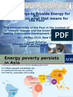 Challenges to provide energy for all and examples on what that means for the poor - presentation