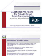 Green and pro-poor? The Case of Informal Transport in India - presentation