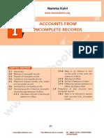 Namma Kalvi 12th Accountancy Unit 1 Sura English Medium Guide
