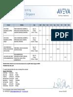 AVEVA Singapore PDMS Training Schedule