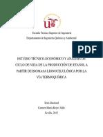 ESTUDIO TÉCNICO-ECONÓMICO Y ANÁLISIS DE CICLO DE VIDA DE LA PRODUCCION DE BIOETANOL A PARTIR DE LA BIOMASA LIGNOCELULOSICA