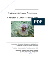 EIA - Cultivation of Corals