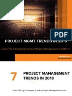 The Top Trendsin Projectmanagement in 2018-180114044712