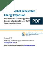 Chinas Global Renewable Energy Expansion January 2017