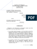 Complaint to RTC