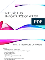 Nature and Importance of Water