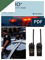 Motorola ASTRO Xts2500 Model 2 Ltd Keypad User Manual